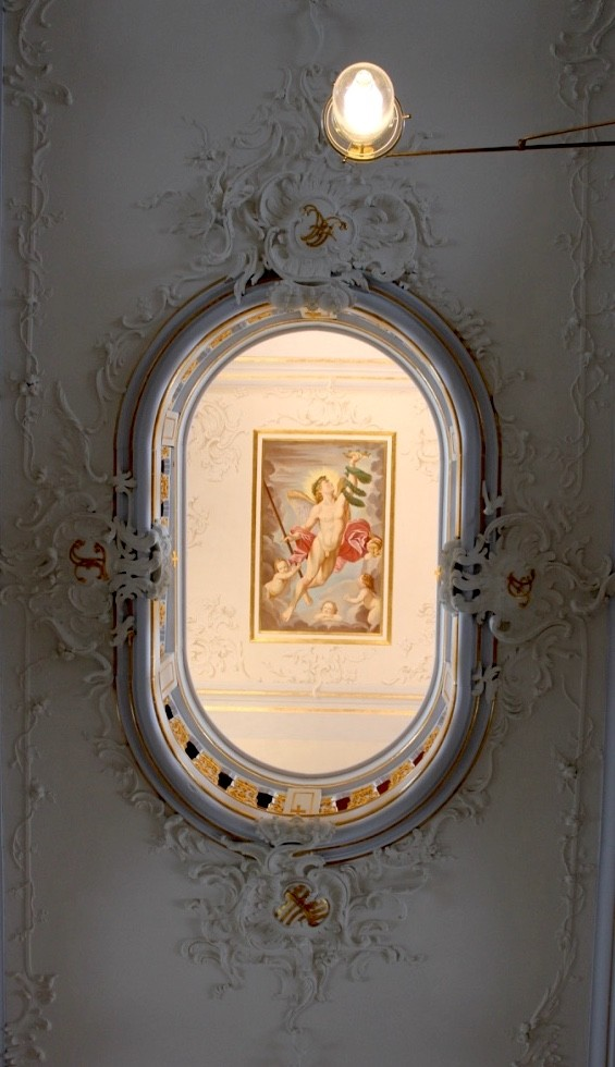 "The ""Genius of Glory"" after a painting by Carracci shows up on the ceiling of the Anna Amalia Library."