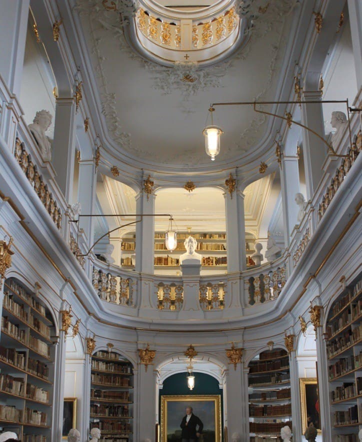 The heart of the famous Anna Amalia Library in Weimar.