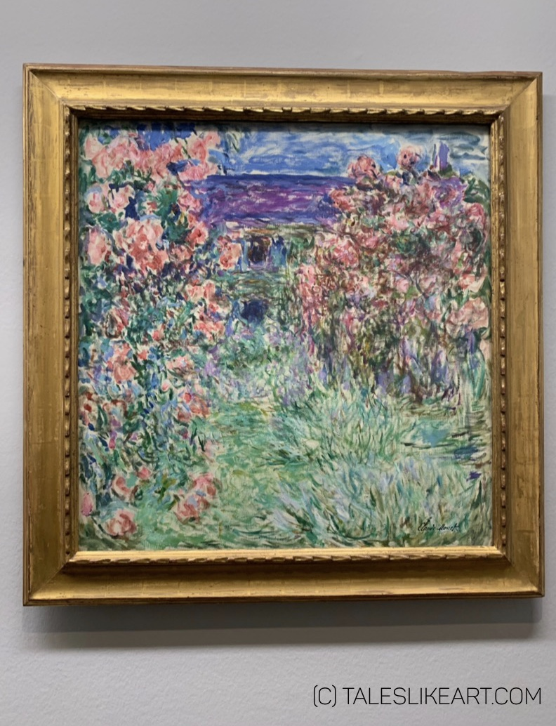 The House among the Roses, painting by Claude Monet. Collection Batliner.