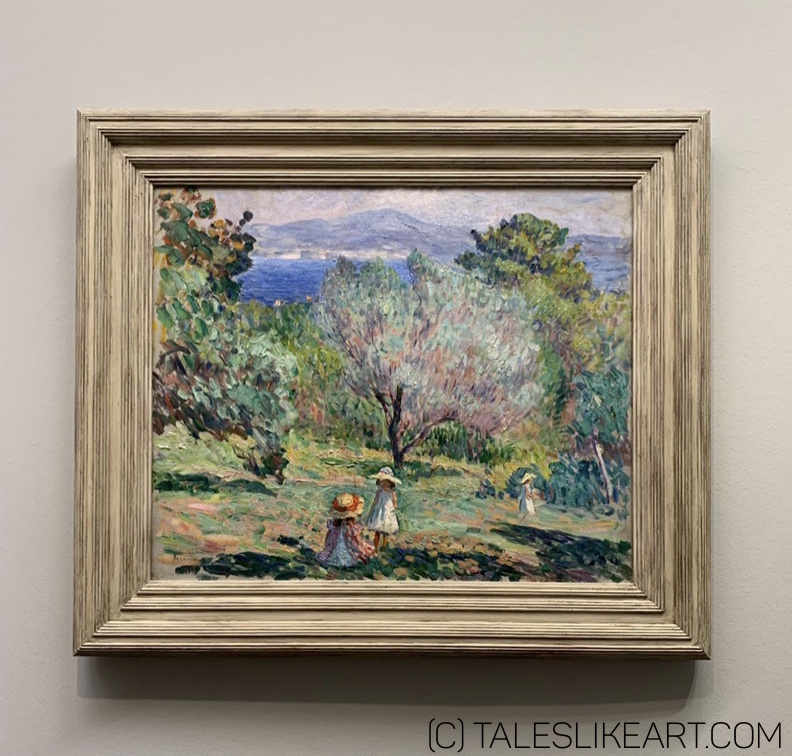 "Henri Lebasque, ""Young Girls in a Mediterranean Landscape"", c. 1907-1910."