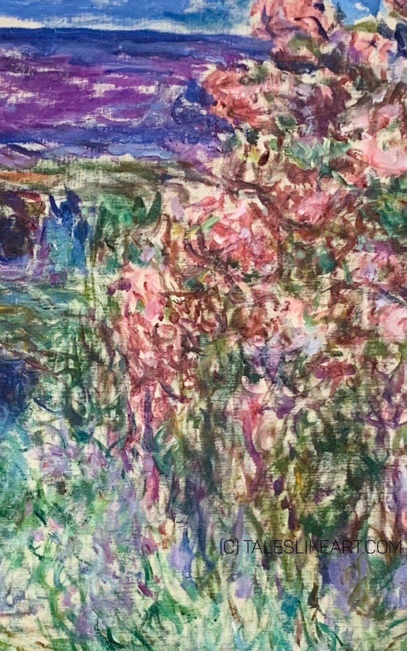 "Detail of the Painting ""The House among the Roses"" by Claude Monet."