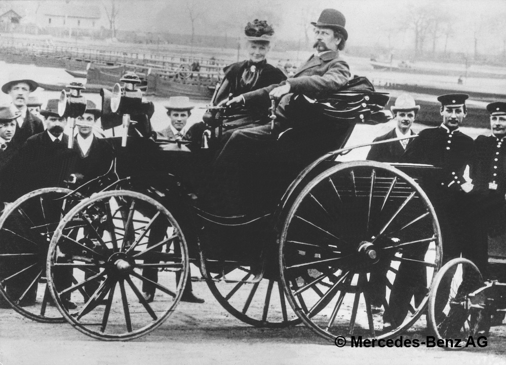 Bertha Benz and Carl Benz in 1894. Picture used with kind permission of Mercedes-Benz Classic. Source: Mercedes-Benz Classic
